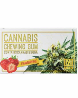 Chewing-gum 17 mg CBD Cannabis Fraise Menthe