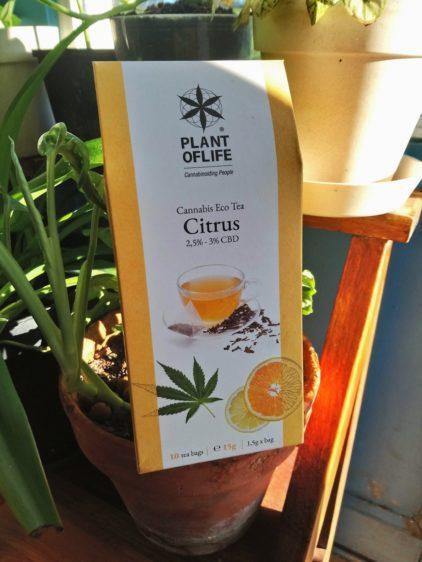 The relaxant au Cannabis CBD CBG Plant of Life Parfum Citron