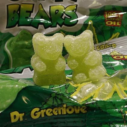 bonbons nounours cannabis chanvre cbd