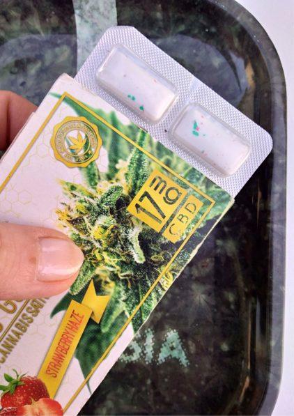 chewing gum cannabis cbd fraise